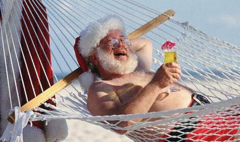 funny santa בזמן שחגגתם
